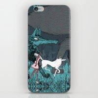 Woman Wolf Wandering iPhone & iPod Skin