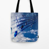 Music Notes Tote Bag
