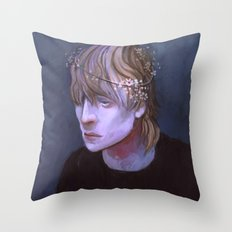 Cole Dragon Age Flowers Throw Pillow