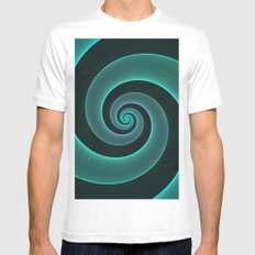 Spiral Mens Fitted Tee SMALL White