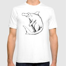 BearShark White SMALL Mens Fitted Tee