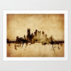 Pittsburgh Pennsylvania Skyline Art Print