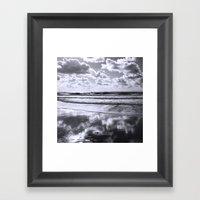 Sylt Mono - Clouds Framed Art Print