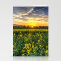 Late Afternoon April Fie… Stationery Cards