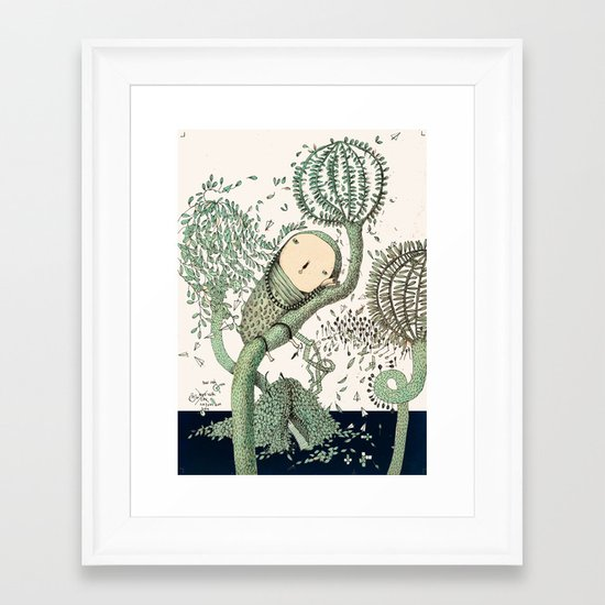 My Green Memory Framed Art Print