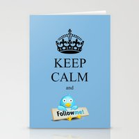 KEEP CALM TWITTER Stationery Cards