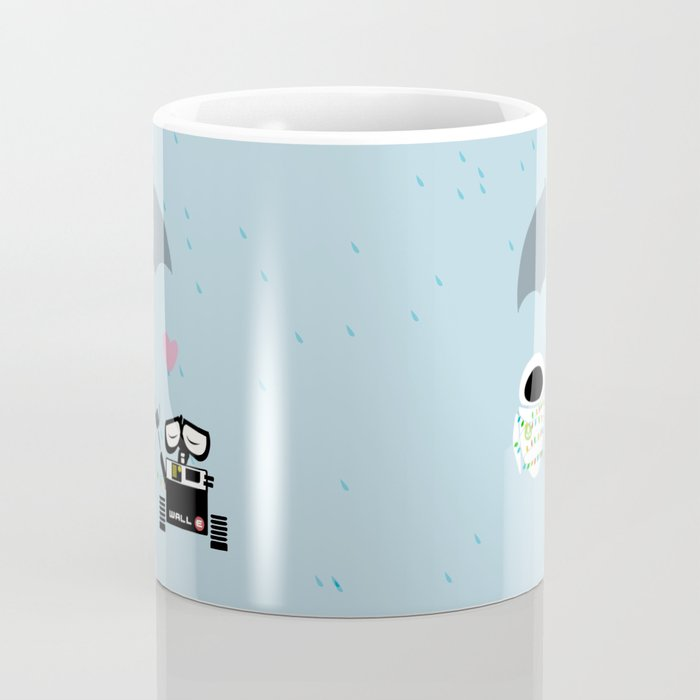 True love walle and eve mug by studiomarshallarts society6 - Walle and eve mugs ...