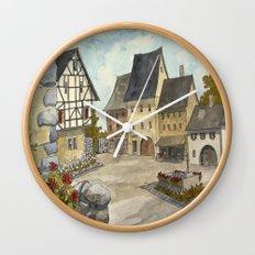 German Village Wall Clock