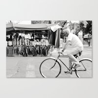 Blur By Biker In Mexico … Canvas Print