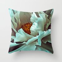 Peony II Throw Pillow