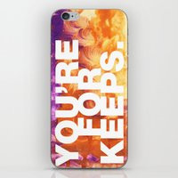 SUNDAYS ARE FOR SOULMATES / You're for keeps iPhone & iPod Skin