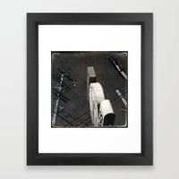 The Wizz take 2, Black and White San Francisco Framed Art Print