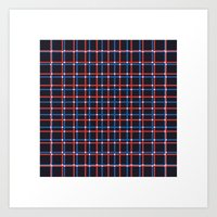 #206 Tartan (two Overlap… Art Print
