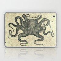 Black Brown Vintage Nautical Steampunk Octopus Laptop & iPad Skin
