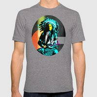 Indian Pop 8 Mens Fitted Tee Tri-Grey SMALL