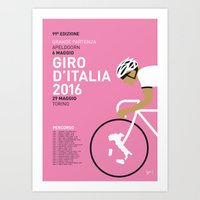 MY GIRO DITALIA MINIMAL … Art Print