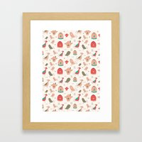 Birds Pattern Framed Art Print