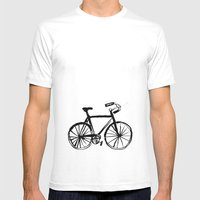 I Like Riding My Bicycle Mens Fitted Tee White SMALL