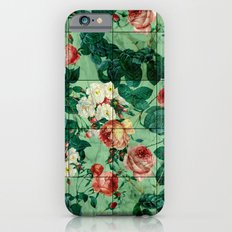 Floral and Marble Texture iPhone 6 Slim Case