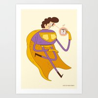 Man of Tea Art Print