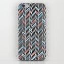 Herringbone Black and Blue #2 iPhone & iPod Skin