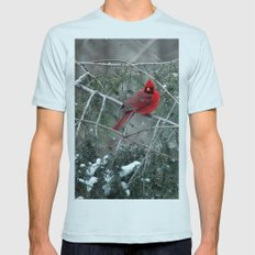 Winter Cardinal Mens Fitted Tee Light Blue SMALL