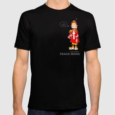 Peace mong Black SMALL Mens Fitted Tee