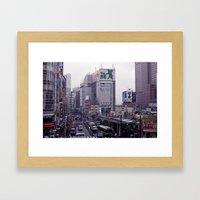 Shinjuku Skyline Framed Art Print