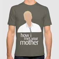 Barney Stinson HIMYM Mens Fitted Tee Lieutenant SMALL