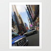 New York City Time Squar… Art Print