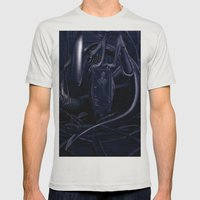 Alien Mens Fitted Tee Silver SMALL
