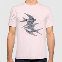 Two Swallows Mens Fitted Tee Light Pink SMALL