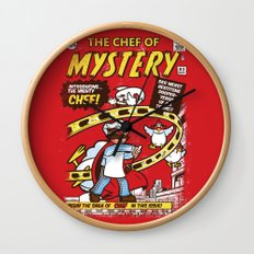 Chef of Mystery Wall Clock