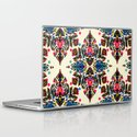 Bright Folk Art Pattern - hot pink, orange, blue & green Laptop & iPad Skin