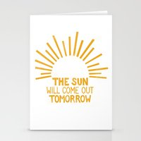 The Sun Will Come Out To… Stationery Cards