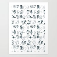 Pop Culture Clash Art Print