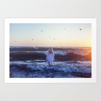 I go, peacefully, into the fray Art Print
