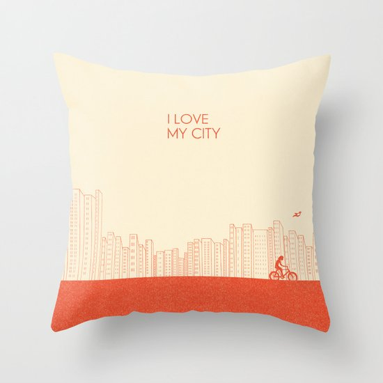 I love my City Throw Pillow