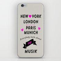 Pop Musik  iPhone & iPod Skin