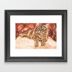 King Kona the Cat Framed Art Print