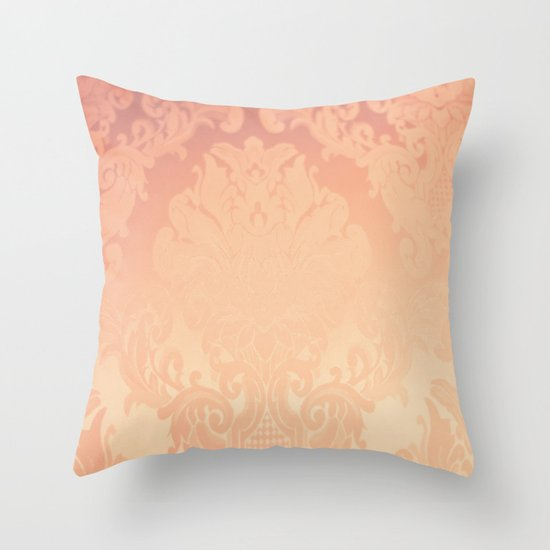 Pink Rose Vintage II Throw Pillow