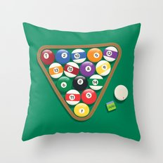 Billiard Balls Rack - Boules de billard Throw Pillow