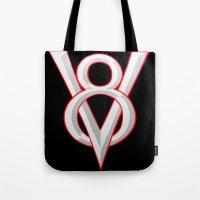 V-8 Symbol Tote Bag
