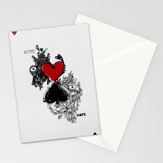 Love Hate Stationery Cards