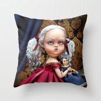 Annabelle White Throw Pillow