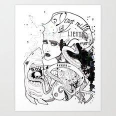 CARPE DIEM SOUS LES MERS Art Print