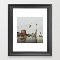 Gratiot Ave - Detroit, MI Framed Art Print