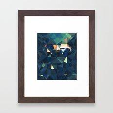 Green illumination Framed Art Print