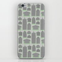 Birdcages (Gray) iPhone & iPod Skin