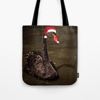 Tis The Season - Swan Tote Bag